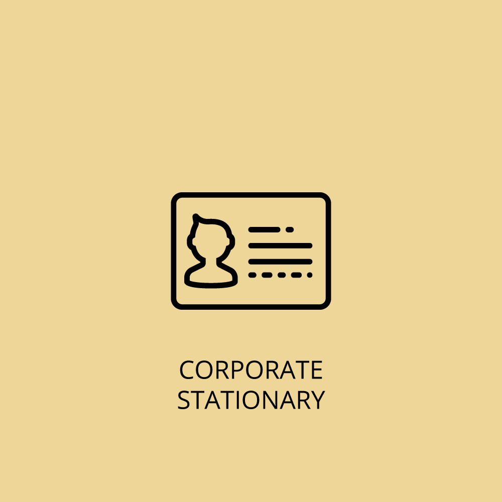 Corporate stationary icon