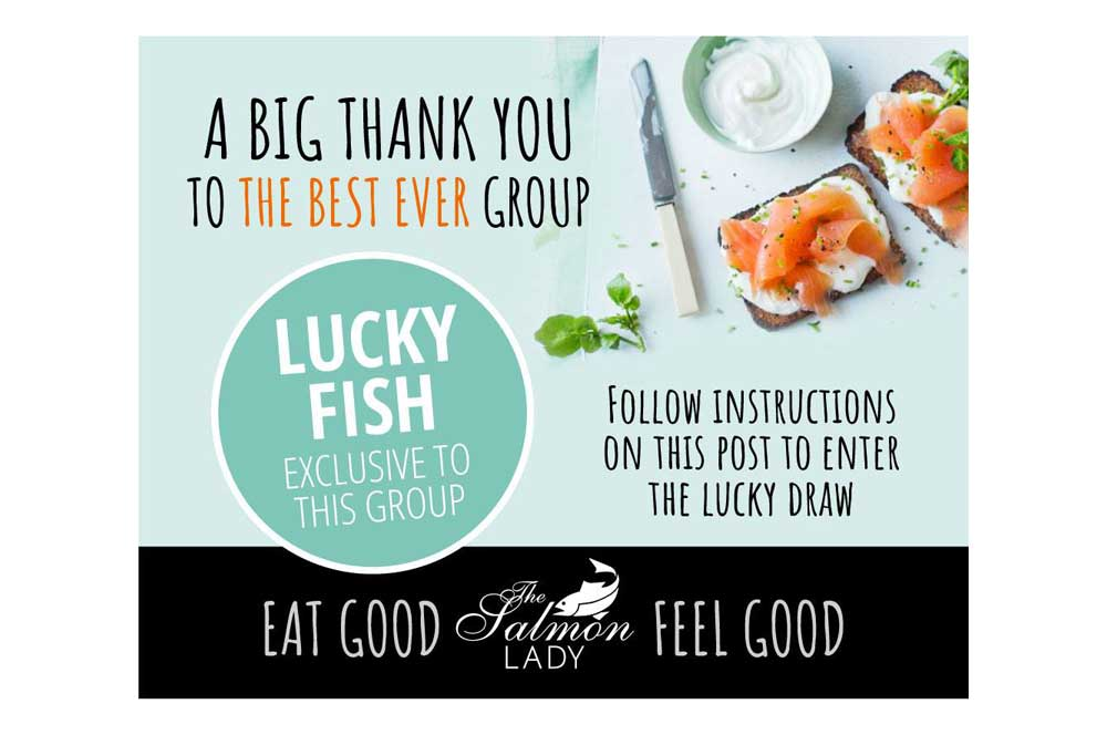 The Salmon Lady Facebook Lucky Draw ad