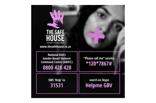 The Safe House Gender Based Violence Facebook ad