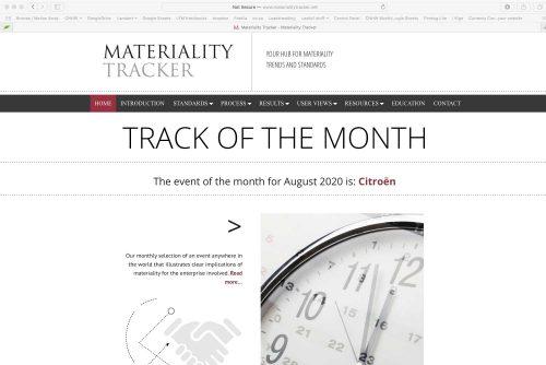 Materiality-Tracker