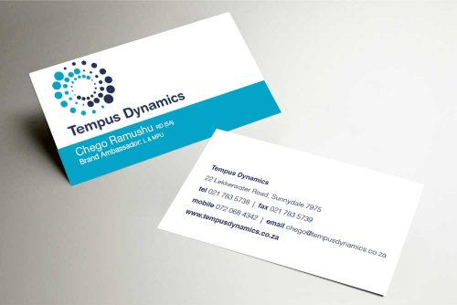 Tempus Dynamics business card